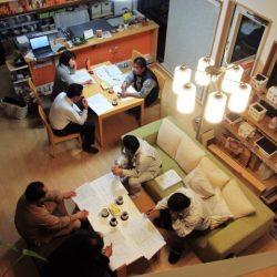 協力業者が集まって新築住宅の会議