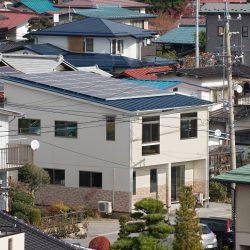 高所から撮影した下諏訪町U様邸の外観