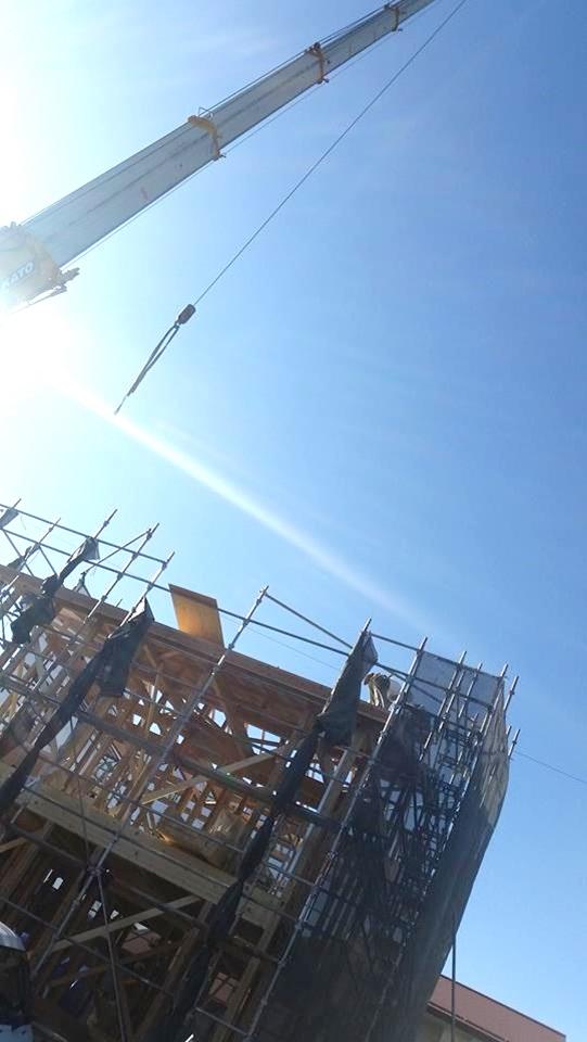 新築住宅 上棟 施工状況 岡谷1