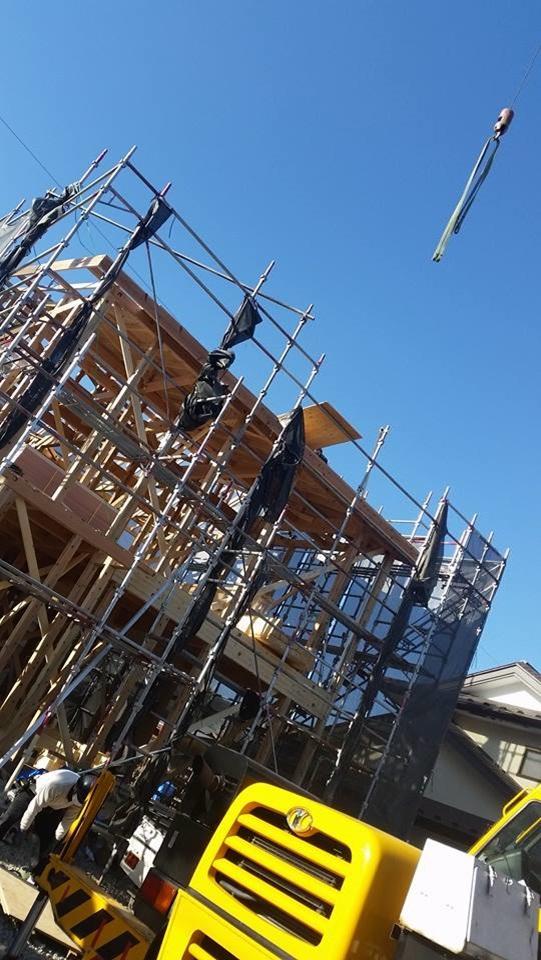 新築住宅 上棟 施工状況 岡谷2