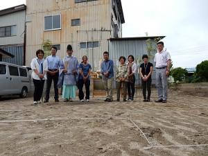 諏訪市建て替え住宅 地鎮祭