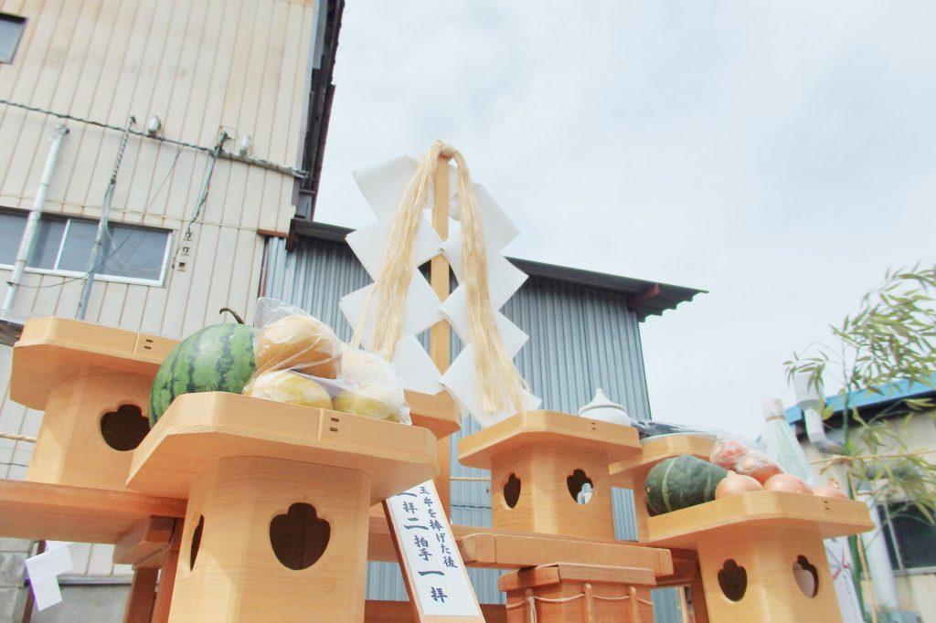 建て替え住宅の地鎮祭 諏訪市K様邸