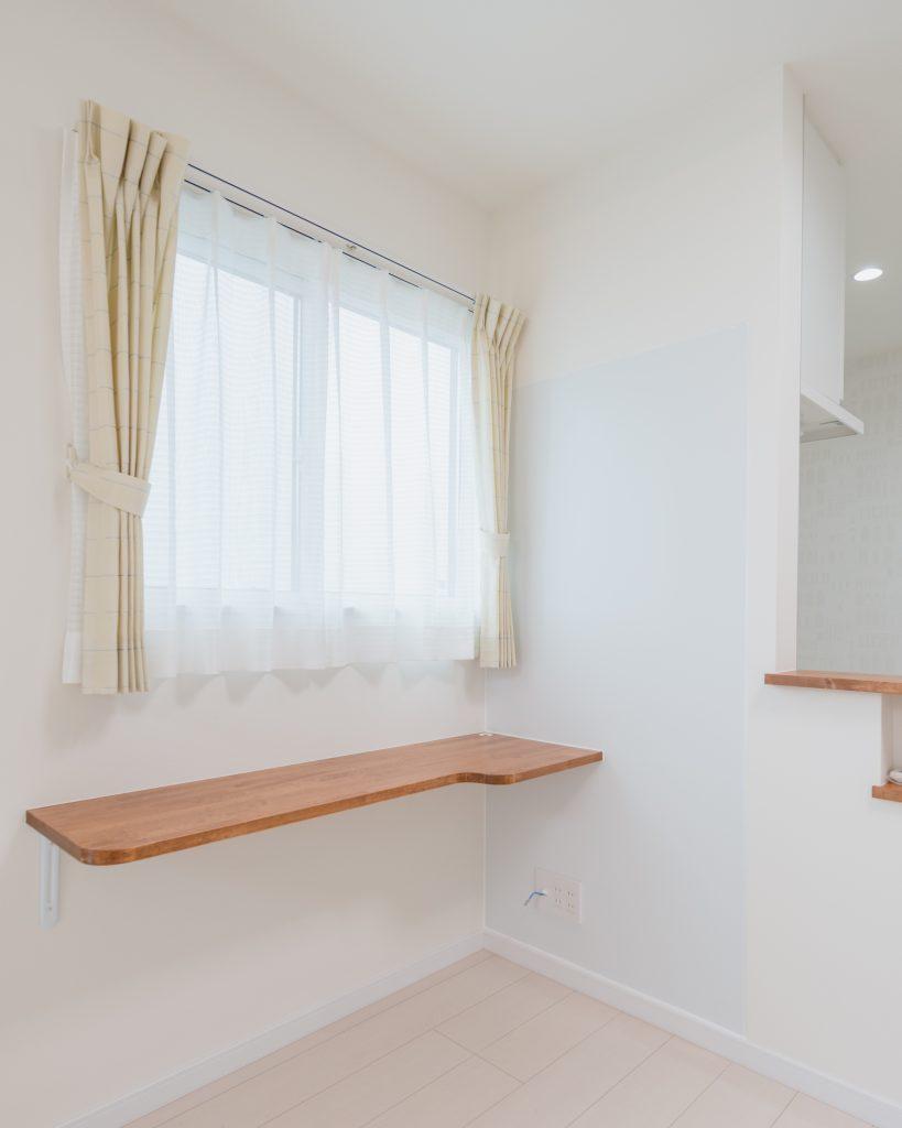 自由設計のコンパクトハウス 茅野市OT様邸 カウンター