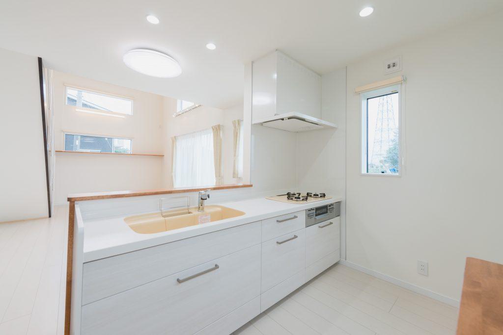 自由設計のコンパクトハウス 茅野市OT様邸 キッチン