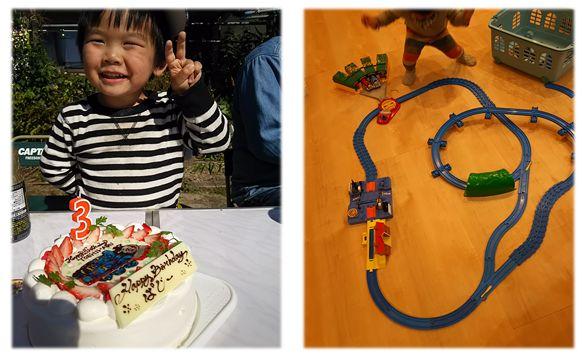 3歳 誕生日トーマス プラレール
