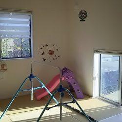畳コーナー 鉄棒 室内物干しスペース