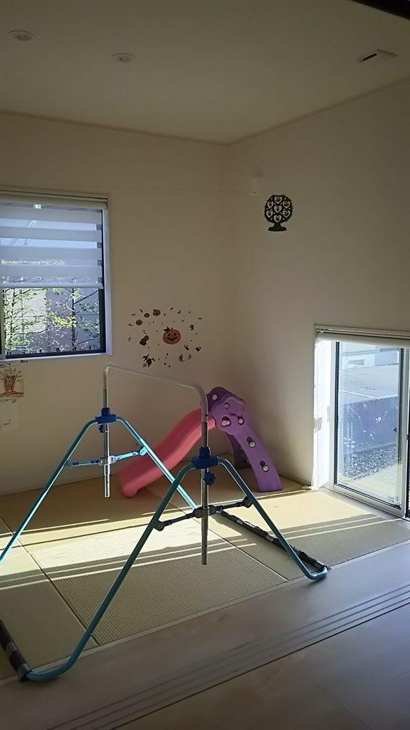 畳コーナー 室内物干しスペース