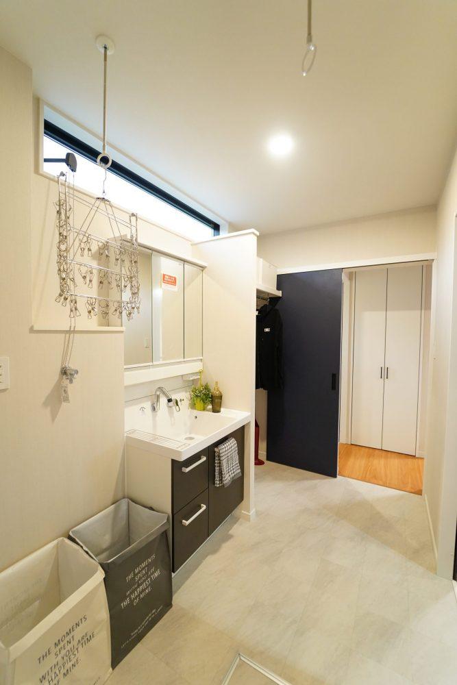 3帖の洗面脱衣室