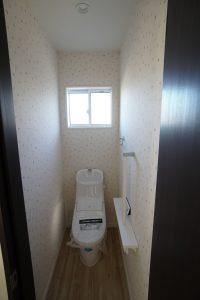 30坪4LDKに設置された2階トイレ