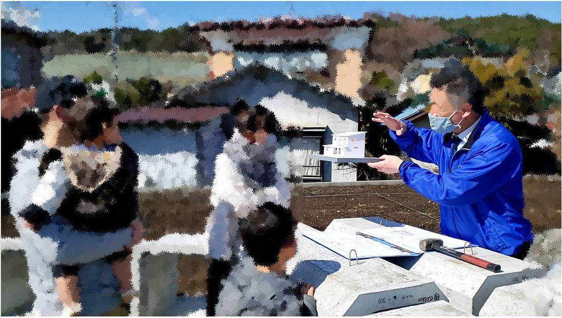 岡谷市K様邸住宅模型と現場打合せ