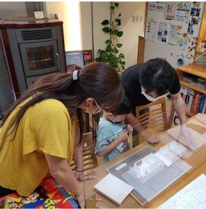茅野市新築S様邸「住宅模型」を使ってお打合せ